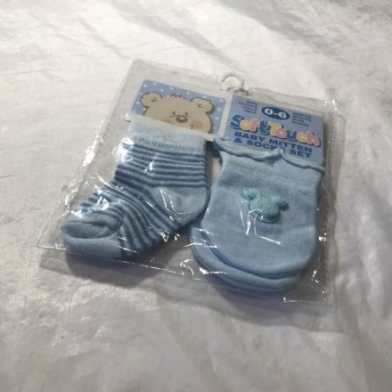 0-6 Month Mouse theme Sock and Mitt Set